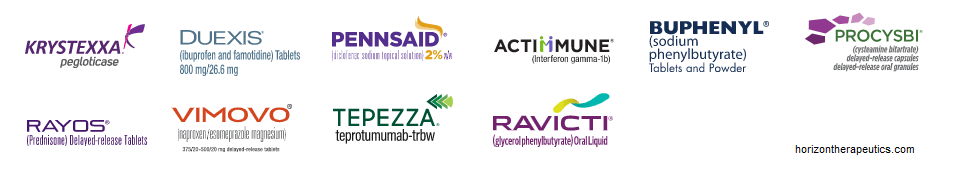 Коммерциализированные препараты Horizon Therapeutics