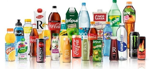 Продукция компании Coca-Cola
