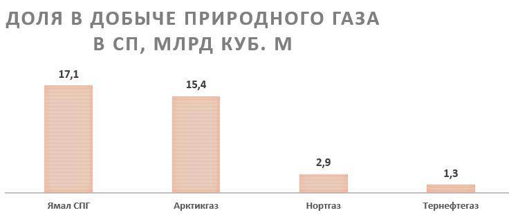 Рост производства природного газа НОВАТЭКом