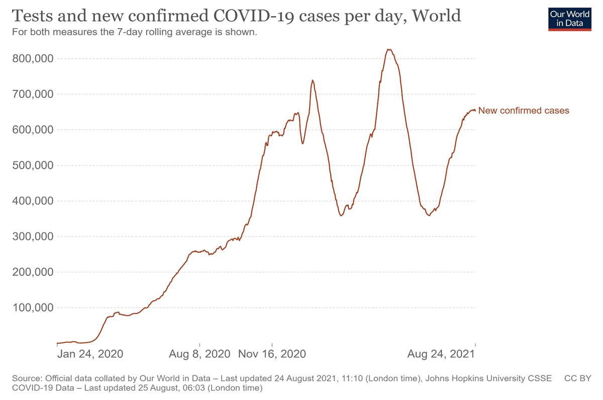 Тестирование и новые подтвержденные случаи COVID-19 в день